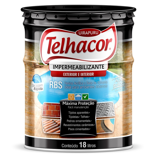 Resina Impermeabilizante RBS Incolor 18L - Telhacor