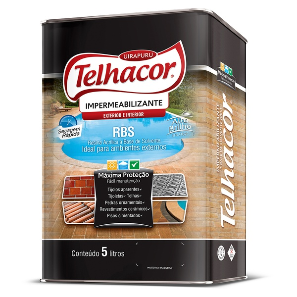 Resina Impermeabilizante RBS Incolor 5L - Telhacor
