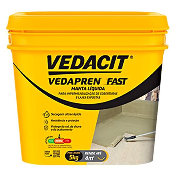Manta Líquida Vedapren Fast 5KG - Vedacit