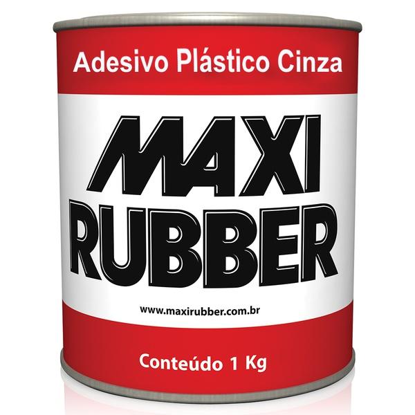 Adesivo Plástico Cinza 1Kg - Maxi Rubber