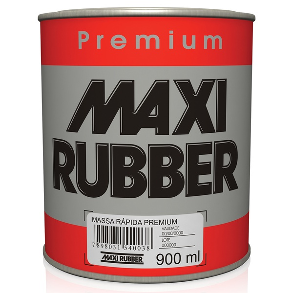 Massa Rápida Premium 0,9L - Maxi Rubber