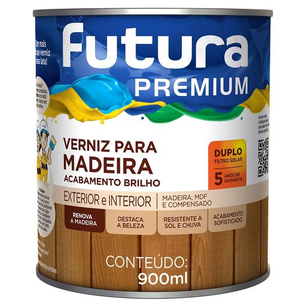 Verniz para Madeira Duplo Filtro Solar Brilhante 0,9L - Futura