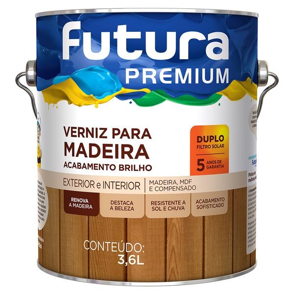 Verniz para Madeira Duplo Filtro Solar Brilhante 3,6L - Futura