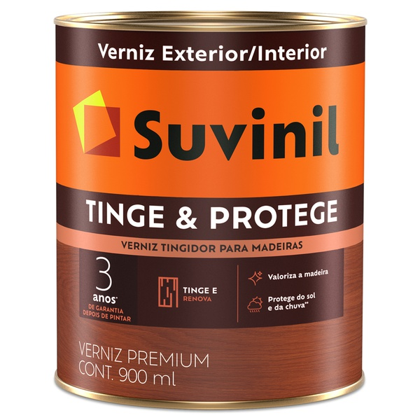 Verniz Tinge e Protege Brilhante 0,9L - Suvinil