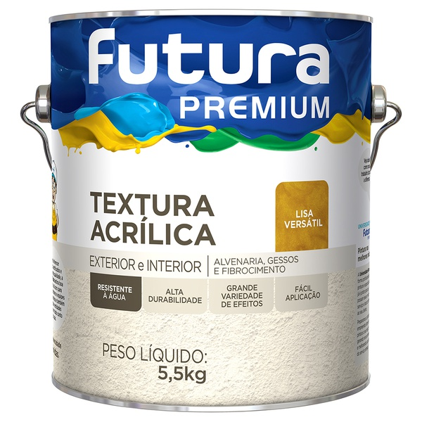 Textura Lisa Versátil Premium 5,5KG Branco - Futura