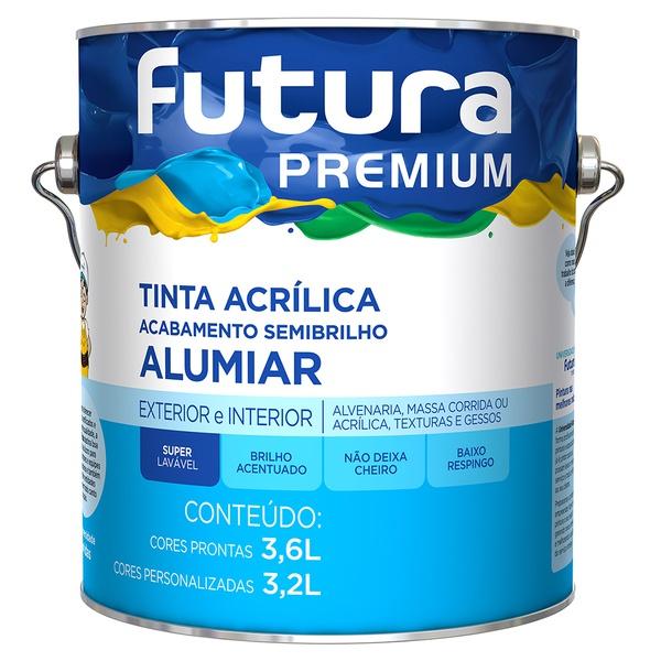 Tinta Acrílica Premium Alumiar Semibrilho 3,6L Branco Neve - Futura