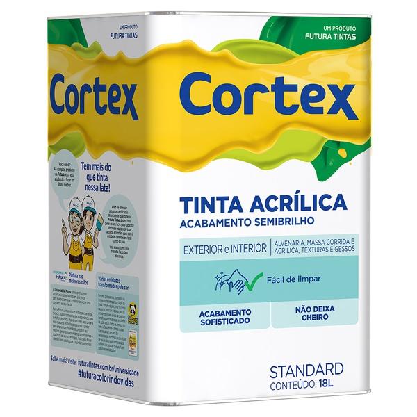 Tinta Acrílica Standard Cortex Semibrilho 18L Branco - Futura
