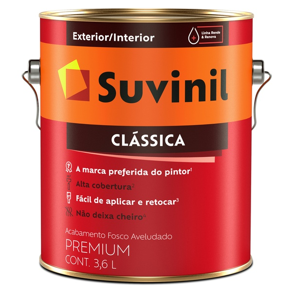 Tinta Látex Premium Fosco Aveludado 3,6L - Suvinil Clássica