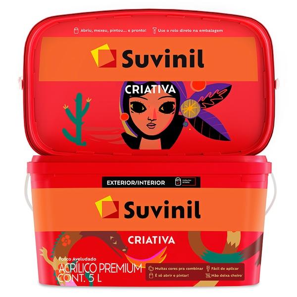 Tinta Acrílica Premium Fosca 5L - Suvinil Criativa