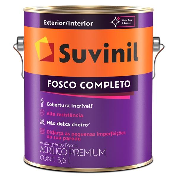 Tinta Acrílica Premium Fosco 3,6L - Suvinil Fosco Completo