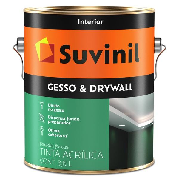 Tinta Látex Premium Gesso & Drywall Fosco 3,6L - Suvinil