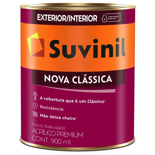 Tinta Acrílica Premium Fosco 0,9L Branco - Suvinil Nova Clássica