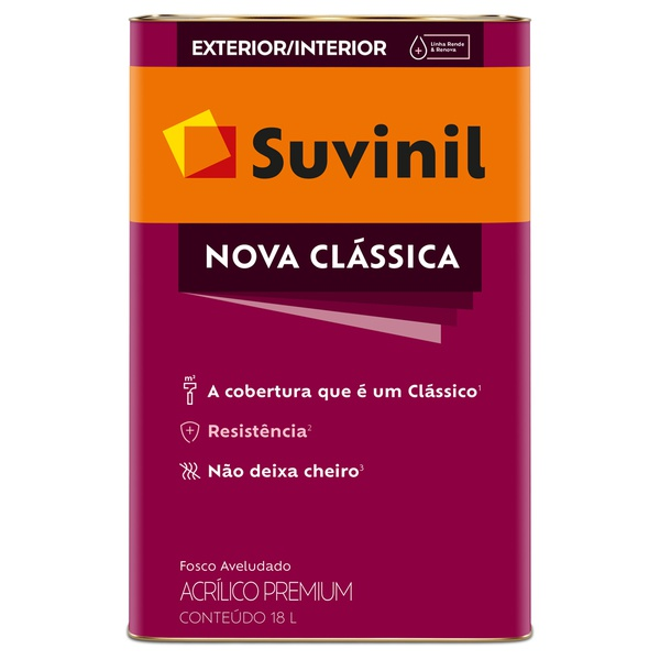 Tinta Acrílica Premium Fosco 18L - Suvinil Nova Clássica