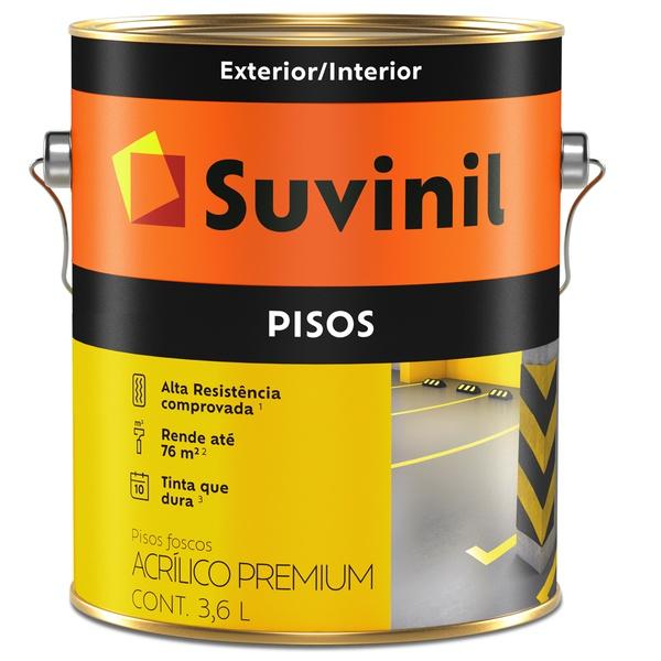 Tinta Piso Acrílico Premium Fosco 3,6L Suvinil