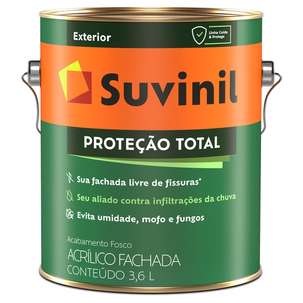 Tinta Acrílica Emborrachada Fosca Proteção Total 3,6L Branco - Suvinil