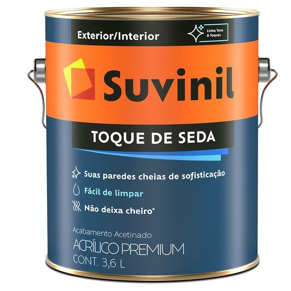 Tinta Acrílica Premium Acetinada 3,6L Branco - Suvinil Toque de Seda