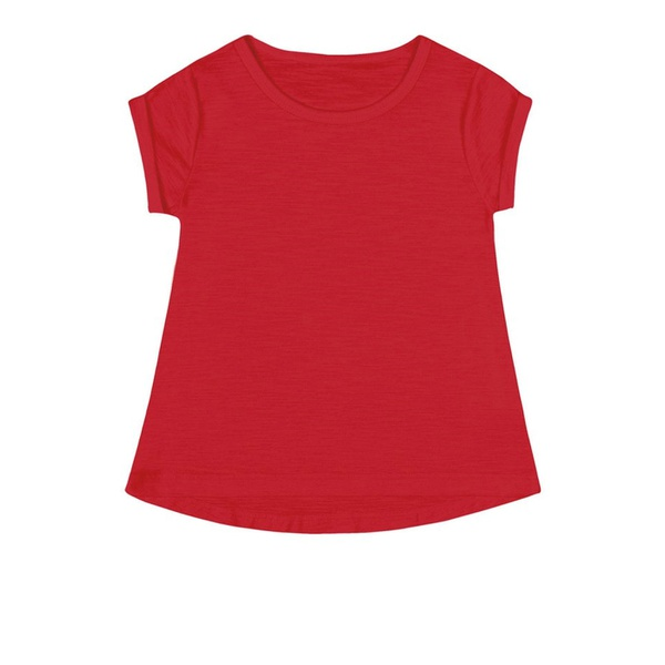 Blusa Infantil Menina Mullet Vermelho
