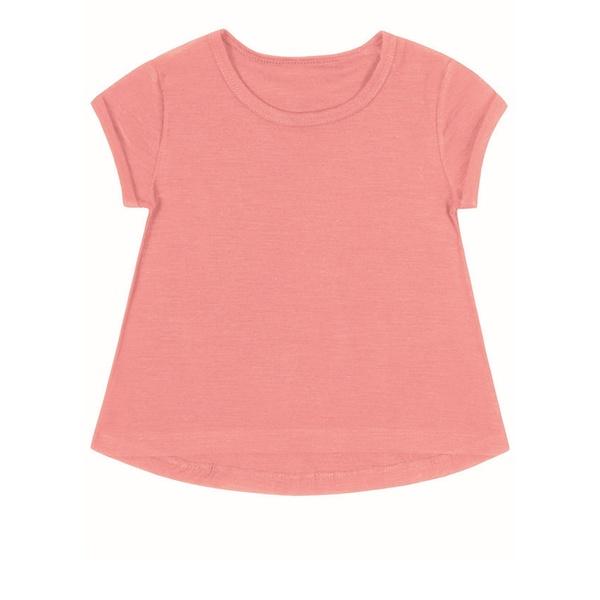 Blusa Infantil Menina Mullet Rosa Flamingo