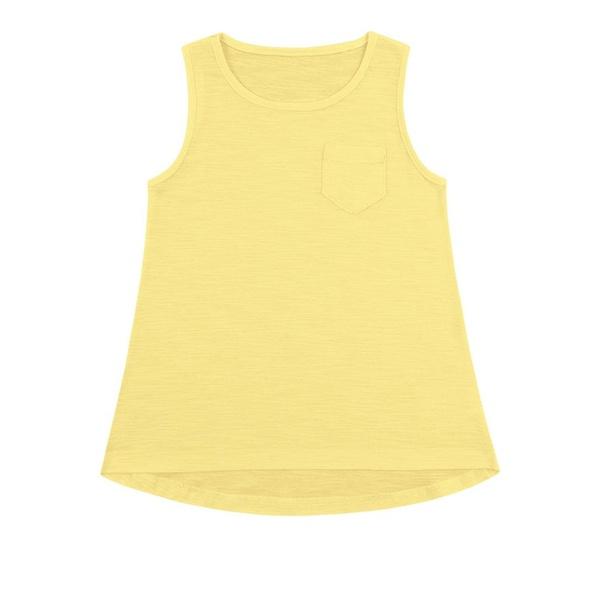 Regata Infantil Básica de Menina Amarela Fakini
