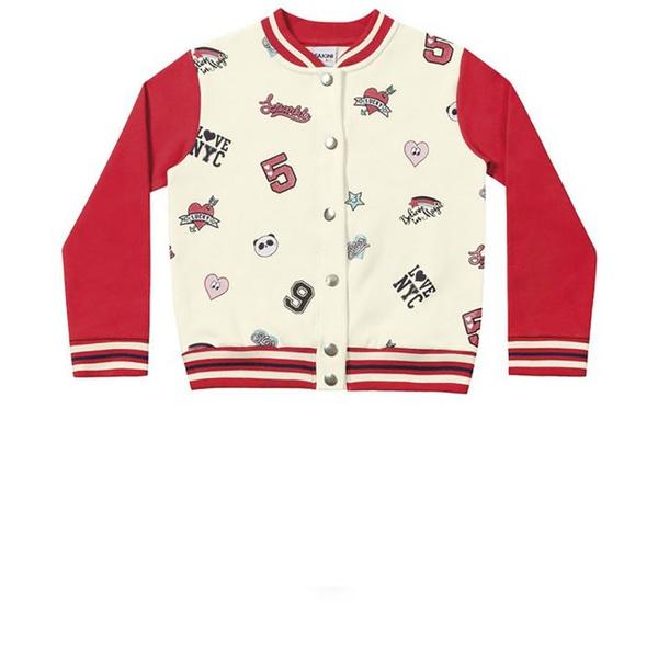 Jaqueta Infantil de Inverno Menina Vermelha Fakini Colegial