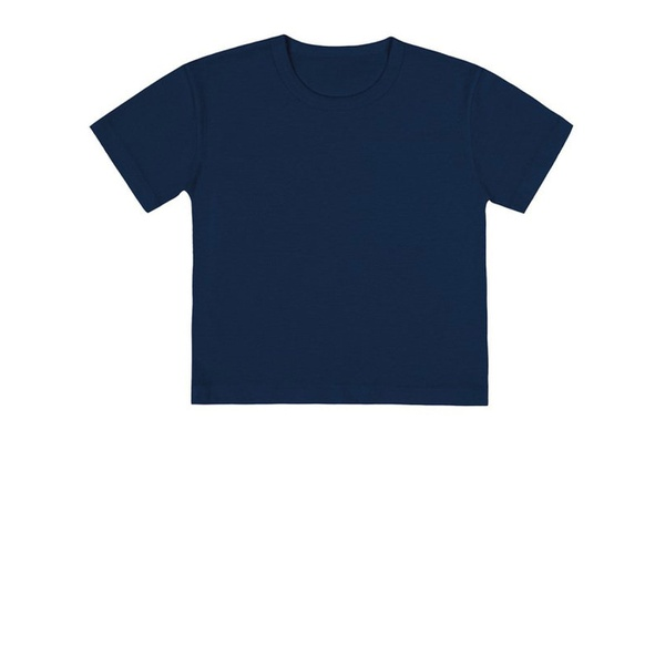 Camiseta Básica Infantil de Menino Azul Marinho Fakini