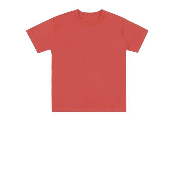 Camiseta Básica Infantil de Menino Laranja Fakini