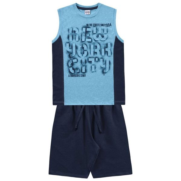 Conjunto Infantil de Menino Fakini New York City Azul