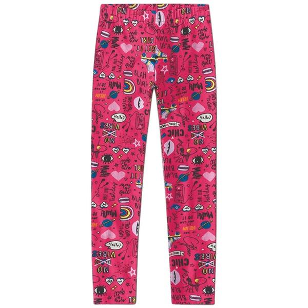 Legging Infantil de Menina Estampada Girl Pink