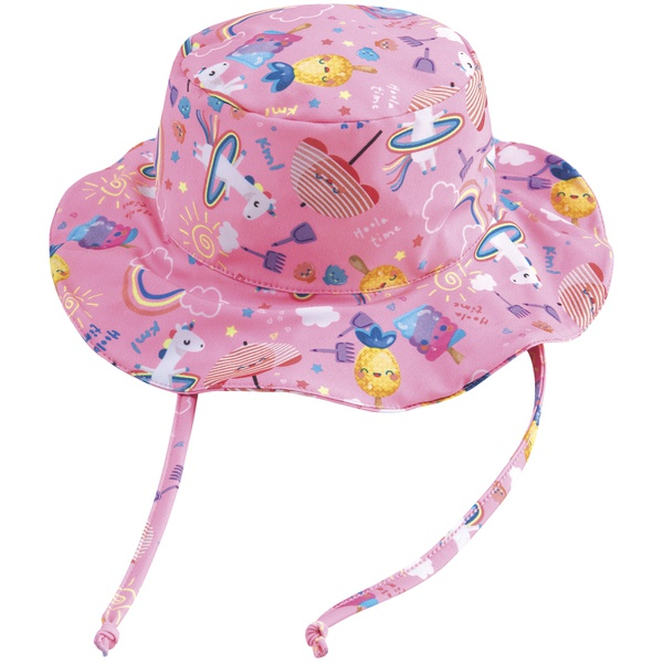 Chapéu Infantil Kamylus Menina Com Proteção UV 50 Estampa Unicórnios