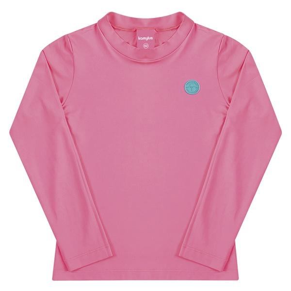 Blusa Infantil Kamylus Manga Longa com Proteção UV 50 Rosa