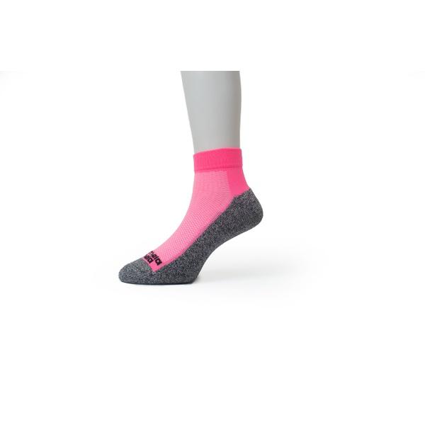 Meia Sport Ciclismo Cano Curto Premium Rosa Chiclete Neon