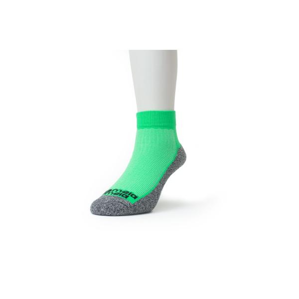 Meia Sport Cano Curto Premium Verde Escuro Fluor