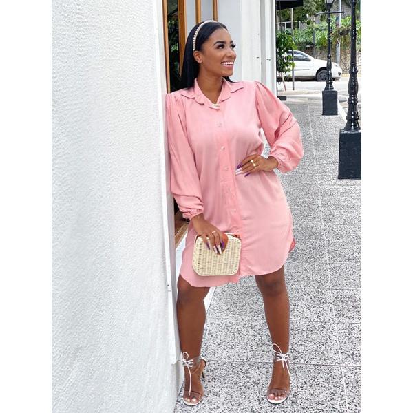 Camisão Chemise Vestido Feminino Rosa