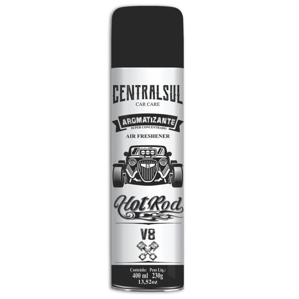 Aromatizante Aerosol Hot Rod V8 400ml Centralsul