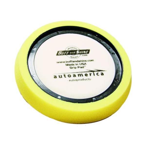 Boina De Espuma Velcro Lustre Amarela Buff And Shine - 180
