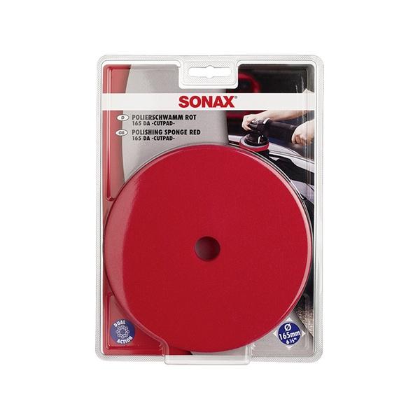 BOINA ESPUMA DE CORTE VERMELHA 165MM C/FURO SONAX