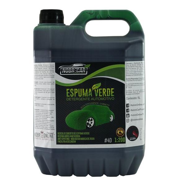 Shampoo Espuma Verde - 5L - Nobre Car