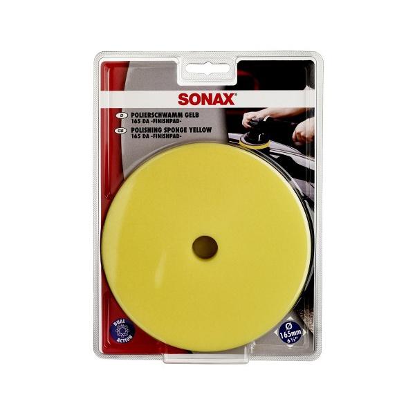 Boina de Espuma Amarela com Furo para Refino e Lustro - Sonax (6,5 polegadas)