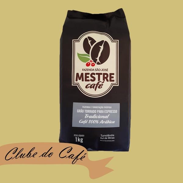 Clube MESTRE CAFÉ ESPRESSO TRADICIONAL - 1 kg - 100% Arábica