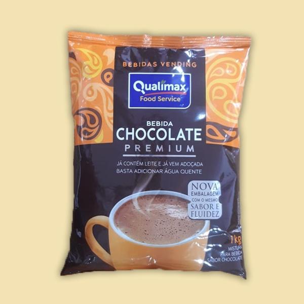 Bebida Chocolate Premium Em Pó Qualimax Vending 1kg
