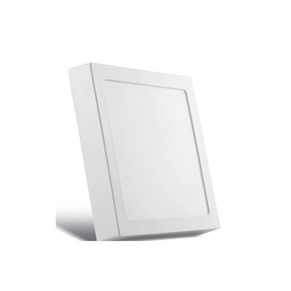 Painel Sobrepor LED Quadrado Branco 17X17CM 12W BIV SE-240.590 3000K (Luz Amarela) - Save Energy