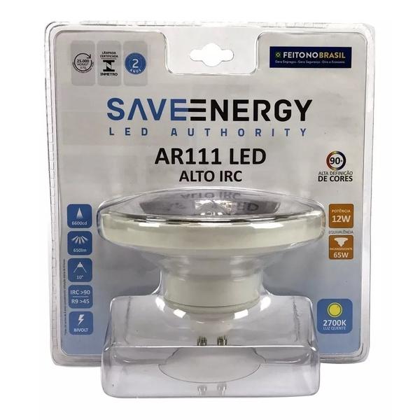 Lampada Ar111 Led 12w 2700k Amarela SE-105 - Save Energy