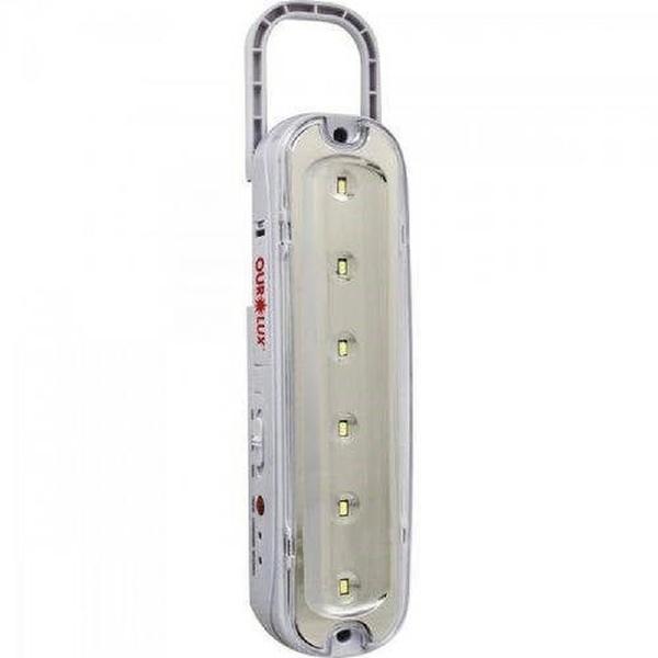 Luminária Emergência 6 Leds c/Pilha Recarregavel 01981 - OUROLUX
