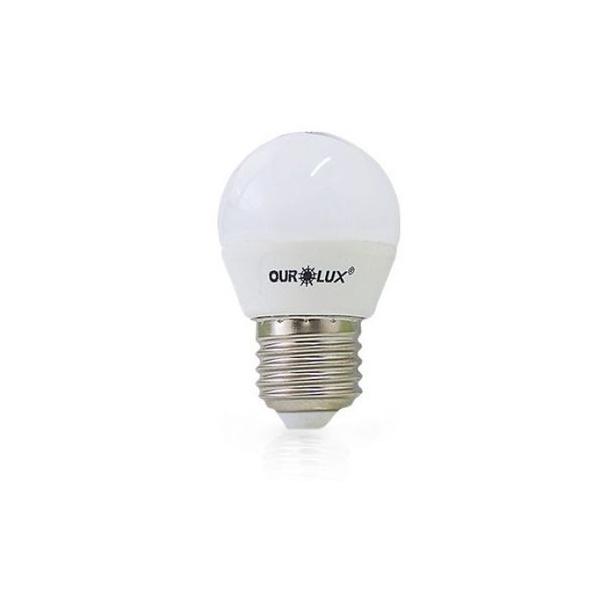 LÂMPADA LED BOLINHA S30 4W BIV 6500K 20000 (LUZ BRANCA) - OUROLUX
