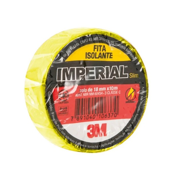 Fita Isolante 18mm x 10m Amarela - 3M