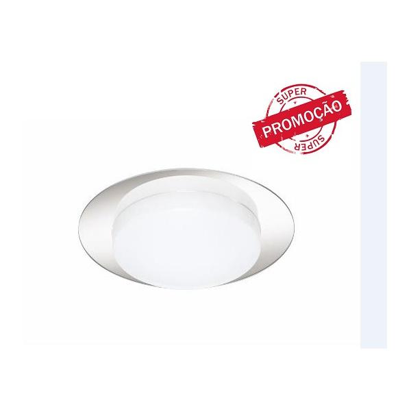Plafon New Pillow Redondo alumínio e acrílico espelhado 3xe27 ref. 3511