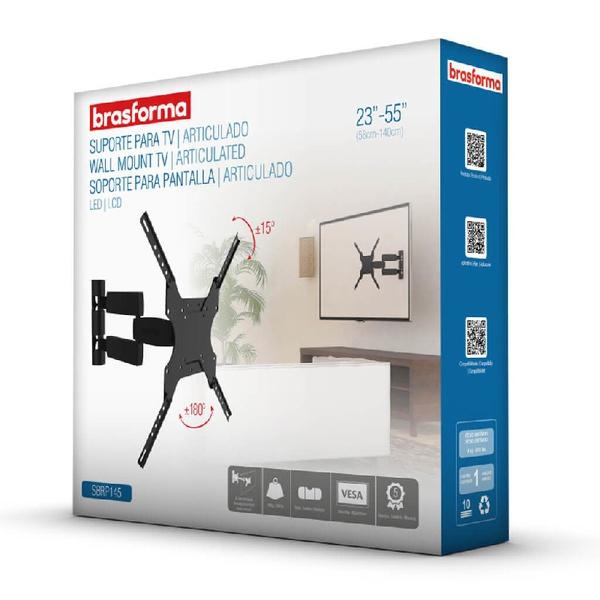 "Suporte p/ TV LCD/LED 23-55"" SBRP145 - BRASFORMA"