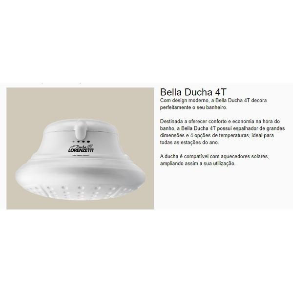 Ducha 4 Temperaturas BELLA DUCHA Branca 127V ou 220V - LORENZETTI