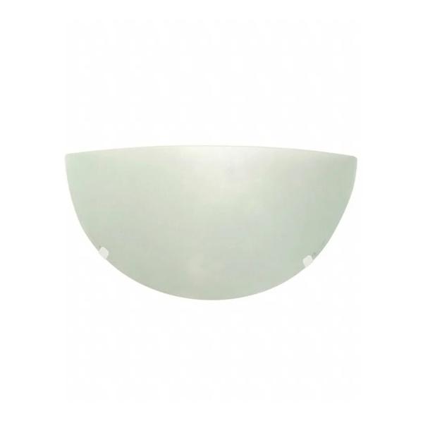 Arandela Jurerê Branca 30Cm Vidro Fosco p/1 Lâmpada E27 - TASCHIBRA