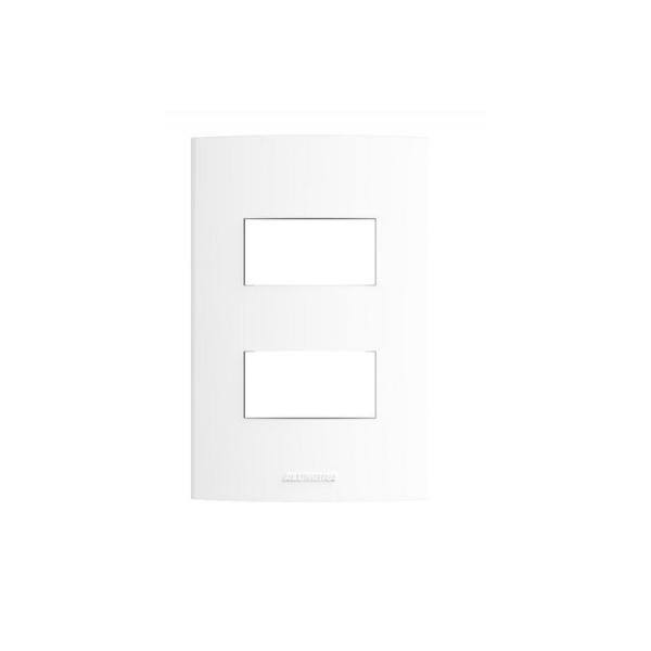 Placa 4x2 2 Módulos c/ Suporte 85001 - Inova Pró